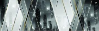 Стеновая панель Мегаполис за стеклом